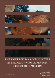 The rights of Baka communities in the REDD+ Ngoyla-Mintom project in Cameroon-cover